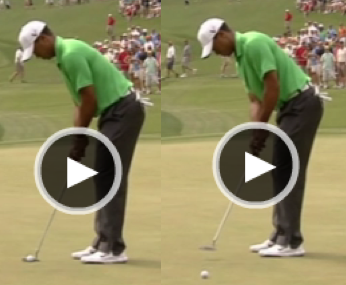 Tiger Putts at Wells Fargo 2012